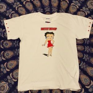 Vintage 90s Betty Boop bedazzled T-shirt. L
